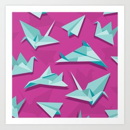planes and cranes Art Print