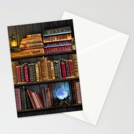 White Witchery Book Nook Stationery Cards