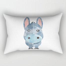 Water Colour Baby Donkey Rectangular Pillow