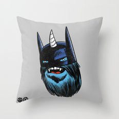 Yeticorn Comic Heroes series: the Batman!  Throw Pillow