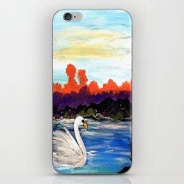 Swan Life iPhone Skin