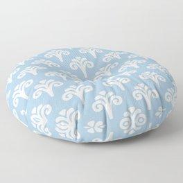 Floral Pattern Pale Blue 243 Floor Pillow