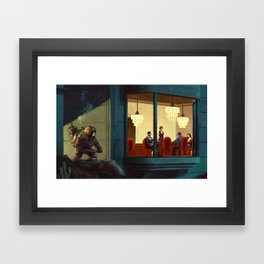 Poker Players Framed Art Print