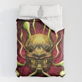 Japanese Tiger Green Smoke Comforters