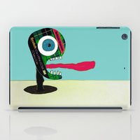 tape iPad Cases featuring Screaming Tape Head by Take Five