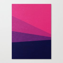 Stripe VII Ultraviolet Canvas Print