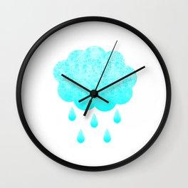 Cloud and randrops Wall Clock