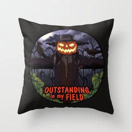 outstanding in my field (night) Throw Pillow