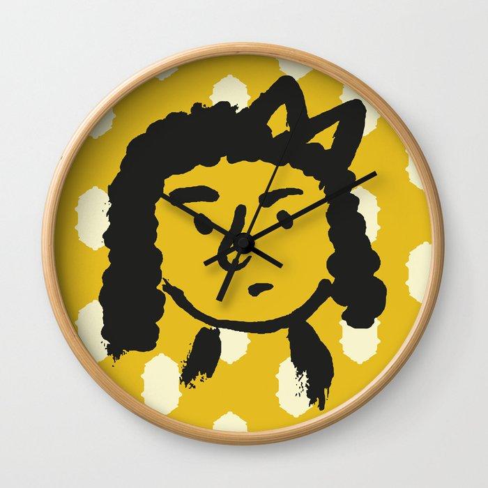grumpy 'tude Wall Clock