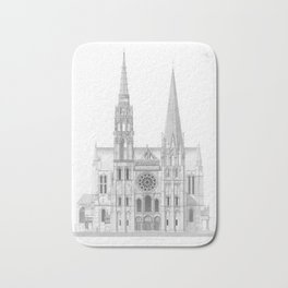 Cathedrale De Chartres Chartres Cathedral Bath Mat
