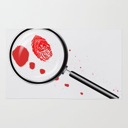 Detectives Magnifying Glass Rug
