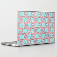 whales Laptop & iPad Skins featuring Whales by bylosangeles