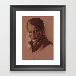 Hannibal Lecter, portrait Framed Art Print