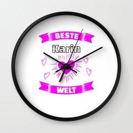 Beste Karin Der Welt Geburtstag Geschenk Wall Clock