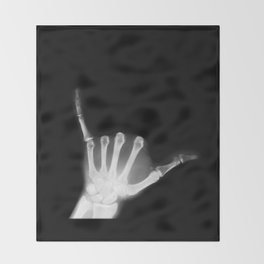 Hang Loose X-Ray Throw Blanket