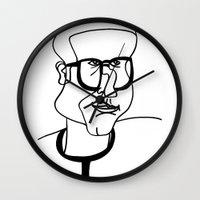 dad Wall Clocks featuring Dad by EllaG