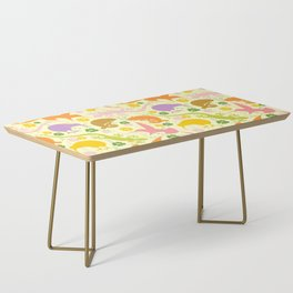 Animals Exotic Pastel Colors Shapes Pattern Coffee Table