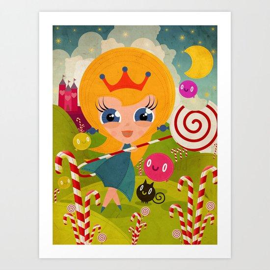 Caramel Princess Art Print
