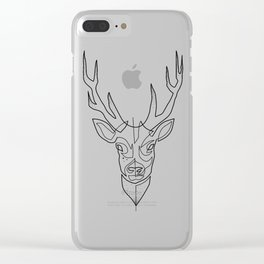 Deer Drawing in One Line Clear iPhone Case