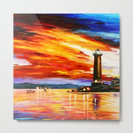 Light Art Tower Metal Print