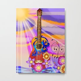 Keyblade Guitar #1 - Kairi's Keyblade Metal Print