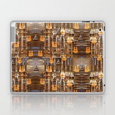 Grunge Abstract with Guitars and Metals Laptop & iPad Skin