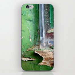 Vintage Green Window Frame 1 iPhone Skin