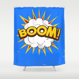 BOOM! limited edition Blue edition Shower Curtain
