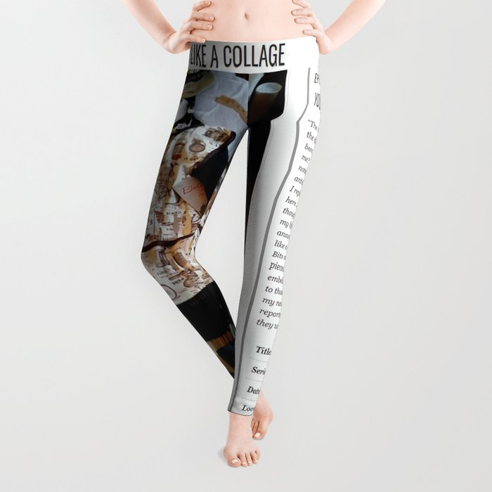 My Life Is Like A Collage / Art Stories Leggings