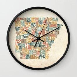Arkansas by County Wall Clock