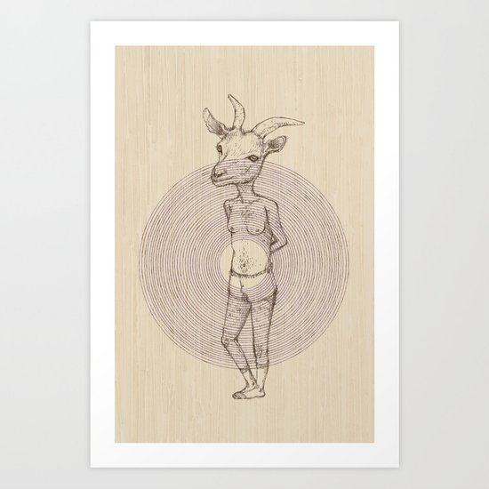 It's a Goat! Art Print