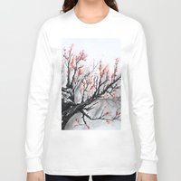 sakura Long Sleeve T-shirts featuring Sakura by rchaem