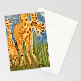 Curious Giraffes Stationery Cards