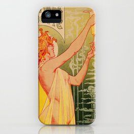 Classic French art nouveau Absinthe Robette iPhone Case