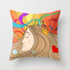 LOST IN HER DREAMS Throw Pillow