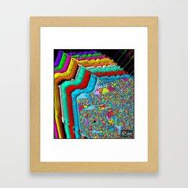 San Francisco Color Burst Framed Art Print
