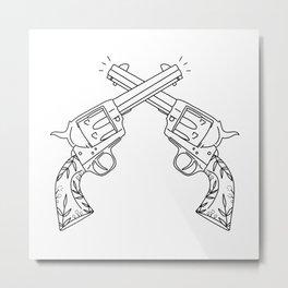 Botanical Revolvers Metal Print