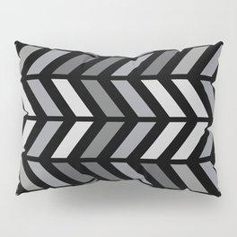 Chevron Black Gray Pillow Sham