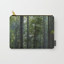 Green forest shrouded the sun. Carry-All Pouch