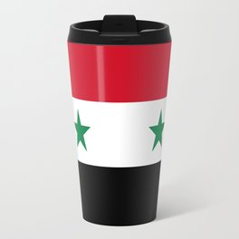 Syrian flag - may PEACE prevail Travel Mug