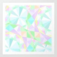 the diamond motifs on a light background Art Print