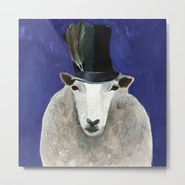 Gipsy Sheep from Animal Society Metal Print