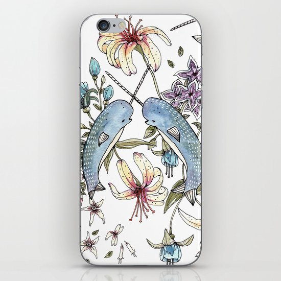 Narwhal pattern iPhone & iPod Skin