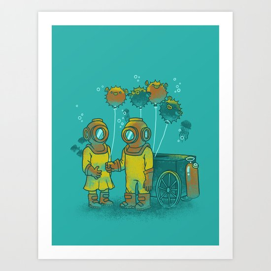 the BalloonFish Vendor Art Print