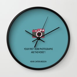 10,000 Photographs Wall Clock