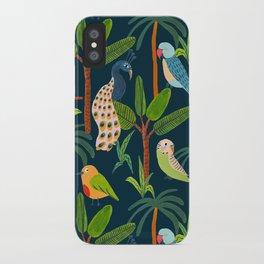 Jungle Birds iPhone Case