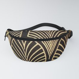 Art nouveau Black,bronze,gold,art deco,vintage,elegant,chic,belle époque Fanny Pack