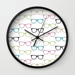 Colorful Funky Glasses Wall Clock