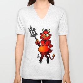 Fat red devil Unisex V-Neck