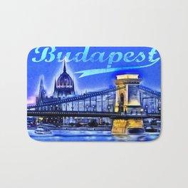 Budapest, blue Bath Mat